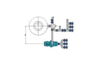 Impianto Filtrazione Piscina Skimmer Completo. Portata 22 Mc/h