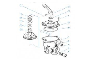 Ricambi Valvola Selettrice Diametro 2''- Coperchio Completo Di Maniglia